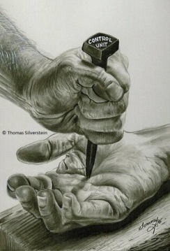 Control Unit: nailed to the cross. Artist: ©Thomas Silverstein.