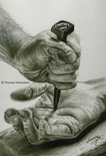 Control Unit: nailed to the cross. Artist: ©Thomas Silverstein.