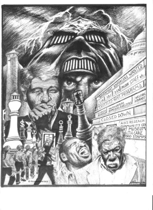 Government Enforcers Wanted. Artist: ©Thomas Silverstein.